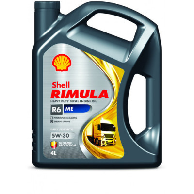 Масло моторное Shell Rimula R6 ME SAE 5W-30 (4л)