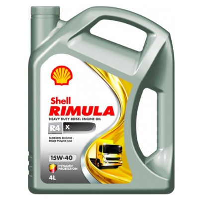 Масло моторное Shell Rimula R4 X SAE 15W-40 (4л)