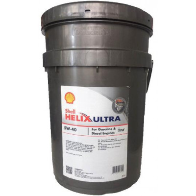 Масло Shell Helix Ultra SAE 5W-40 (20л)