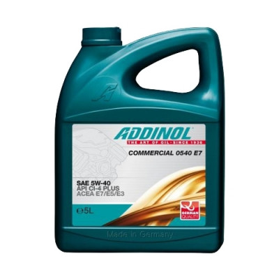 Масло моторное ADDINOL Commercial 0540 E7 SAE 5W-40 (5л)