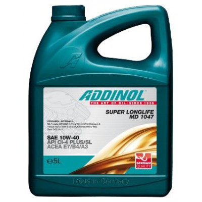 Масло моторное ADDINOL Super Longlife MD 1047 SAE 10W-40 (5л)