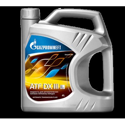 Масло трансмиссионное Gazpromneft ATF DX III (4л)
