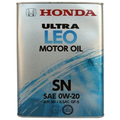 Масло моторное HONDA Ultra LEO SAE 0W-20 SN (4л)