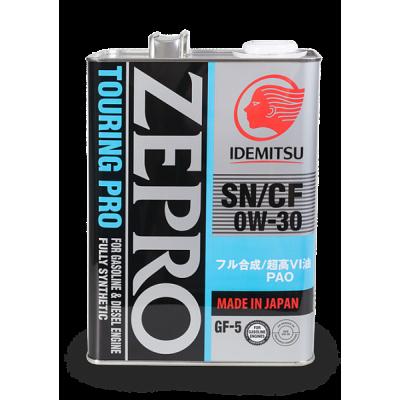 Масло моторное IDEMITSU Zepro TOURING PRO SAE 0W-30 SN/CF (4л)