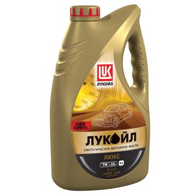 Масло моторное Лукойл люкс SAE 5W-30 SL/CF синтетическое (4л)