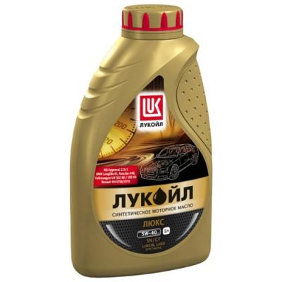 Масло моторное Лукойл люкс SAE 5W-40 SN/CF синтетическое (1л)