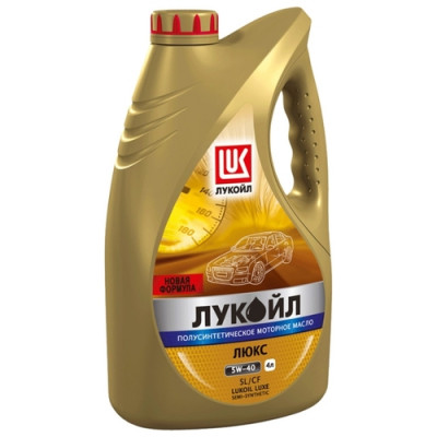 Масло моторное Лукойл люкс SAE 10W-40 SL/CF полусинтетическое (4л)