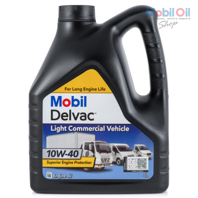 Масло моторное Mobil DELVAC LIGHT COMMERCIAL VEHICLE SAE 10W-40 (4л)