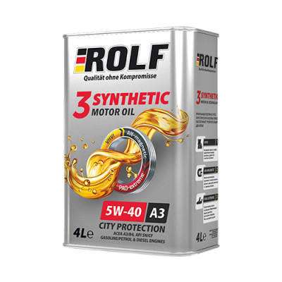 Масло моторное Rolf 3-Synthetic SAE 5W-40 A3/B4 (4л)