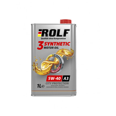 Масло моторное Rolf 3-Synthetic SAE 5W-40 A3/B4 (1л)