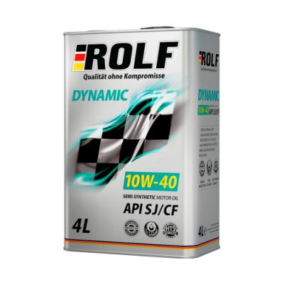 Масло моторное Rolf Dynamic SAE 10W-40 SJ/CF (4л по цене 3л) АКЦИЯ