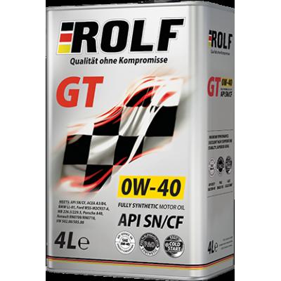 Масло моторное Rolf GT SAE 0W-40 (4л) АКЦИЯ