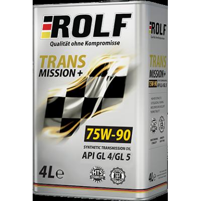 Масло трансмиссионное Rolf Transmission PLUS SAE 75W-90 GL-4/GL-5 (4л) Акция - 30%