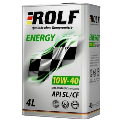 Масло моторное Rolf Energy SAE 10W-40 SL/CF (4л по цене 3л) АКЦИЯ