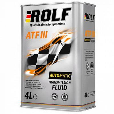 Масло трансмиссионное Rolf ATF III (4л)