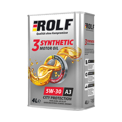 Масло моторное Rolf 3-Synthetic SAE 5W-30 A3/B4 (4л)