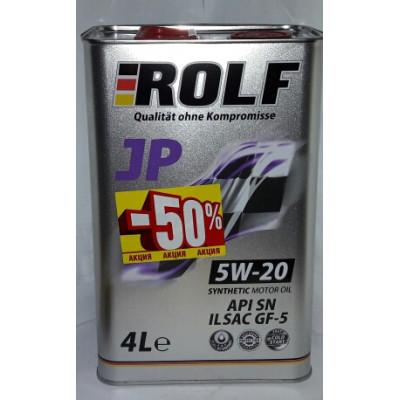 Масло моторное Rolf JP SAE 5W-20 ILSAC GF-5/API SN (4л) АКЦИЯ -50%