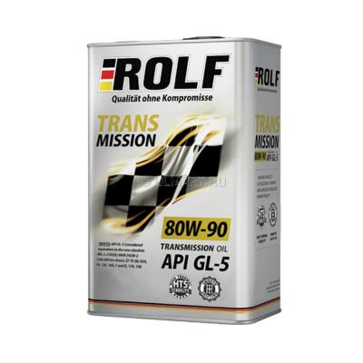 Масло трансмиссионное Rolf Transmission SAE 80W-90 API GL-5 (4л)