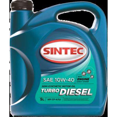Масло моторное Sintec TURBO DIESEL SAE 10W-40 API CF-4/CF/SJ (5л)