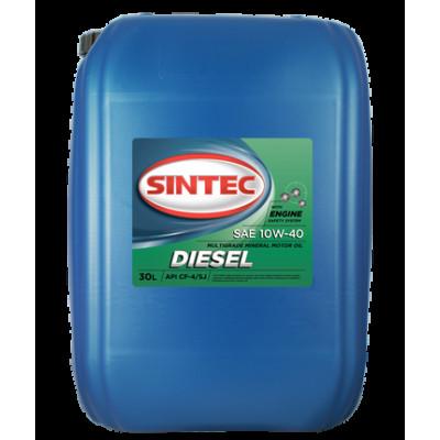 Масло моторное Sintec DIESEL SAE 10W-40 API CF-4/SJ (30л)