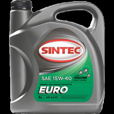Масло моторное Sintec EURO SAE 15W-40 API SJ/CF (5л)