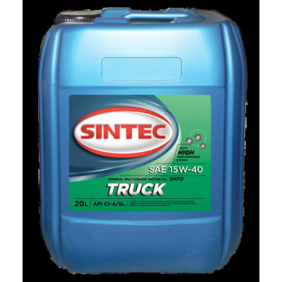 Масло моторное Sintec TRUCK SAE 15W-40 API CI-4/SL (30л)