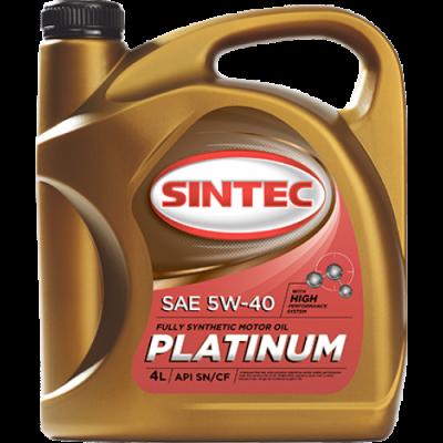 Масло моторное Sintec PLATINUM SAE 5W-40 API SN/CF (4л по цене 3л) АКЦИЯ