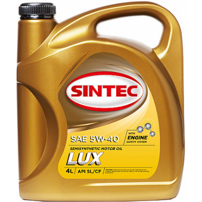 Масло моторное Sintec ЛЮКС SAE 5W-40 API SL/CF (4л)
