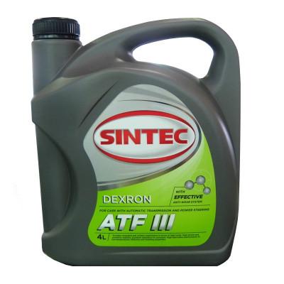 Масло трансмиссионное Sintec ATF DEXRON III (4л)