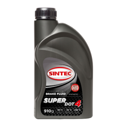 Жидкость тормозная Sintec Super Dот-4 (910г)