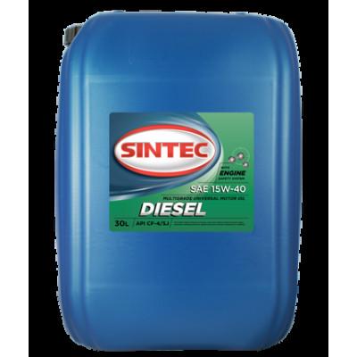 Масло моторное Sintec DIESEL SAE 15W-40 API CF-4/CF/SJ (30л)