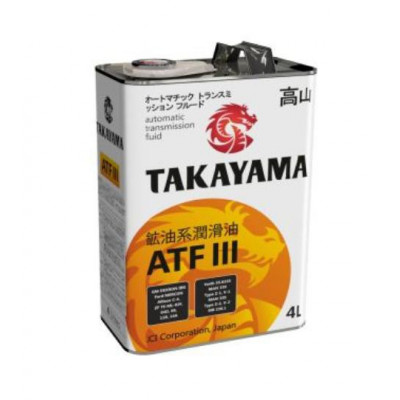 Масло трансмиссионное TAKAYAMA ATF III Dexron (4л)