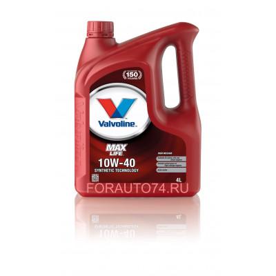 Масло моторное Valvoline MaxLife SAE 10W-40 (4л)